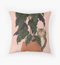 tiger at heart Throw Pillow