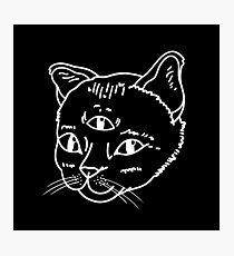 Three-Eyed Cat Photographic Print