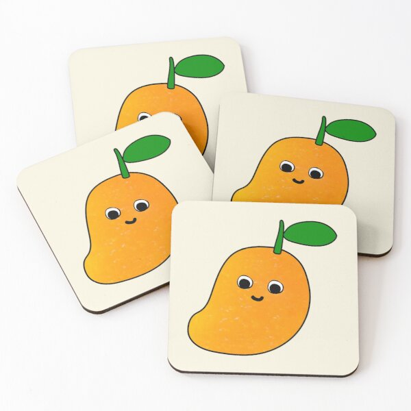 Happy Mango Coasters (Set of 4)