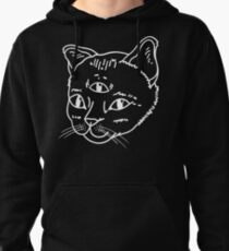 Three-Eyed Cat Pullover Hoodie