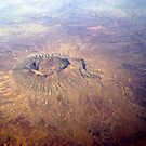aerial of crater in South Africa by Margaret  Hyde