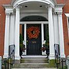 Elegant Pillared Door by AnnDixon