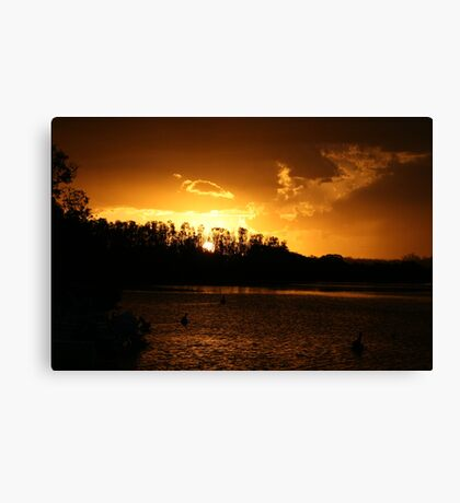 Ohmas Bay Sunset at Tuncurry Canvas Print