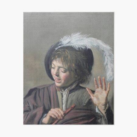Singing Boy with a Flute-Frans Hals Art Board Print