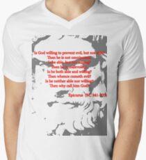 Epicurus on Atheism Men's V-Neck T-Shirt