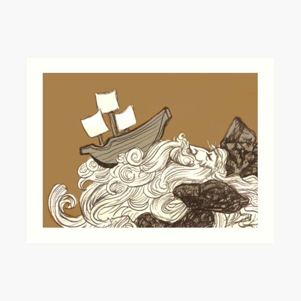 Ship on a Wave Art Print