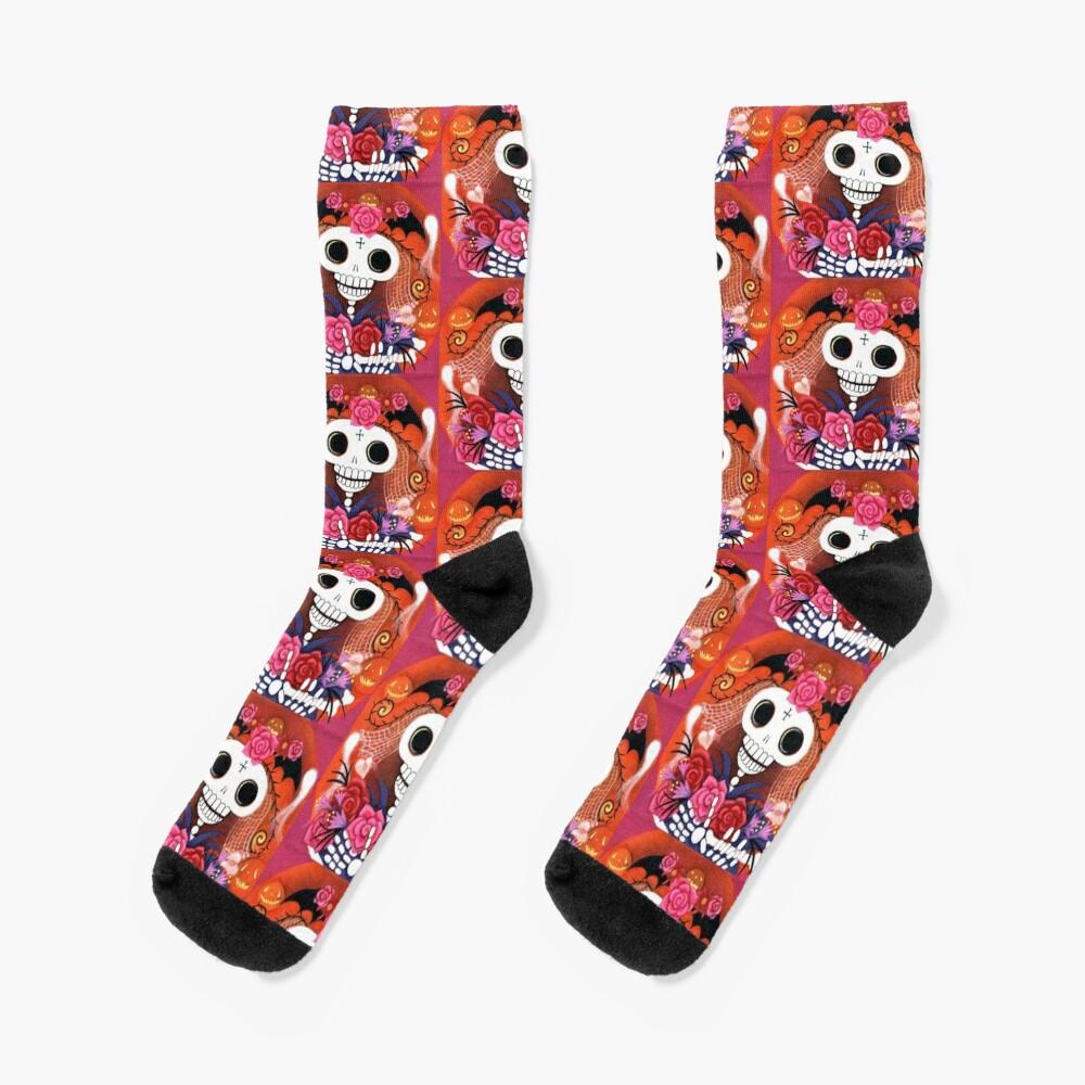 Halloween Skelly Bride Socks