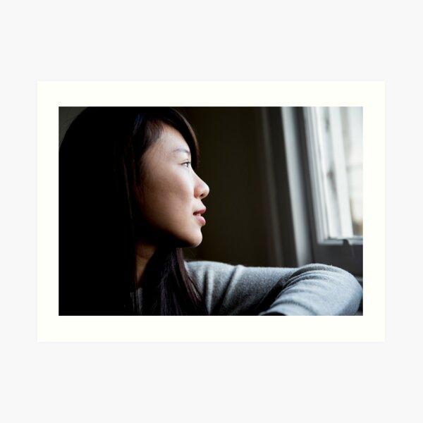 Portrait of a young woman Art Print