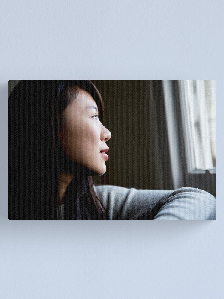 Alternate view of Portrait of a young woman Canvas Print