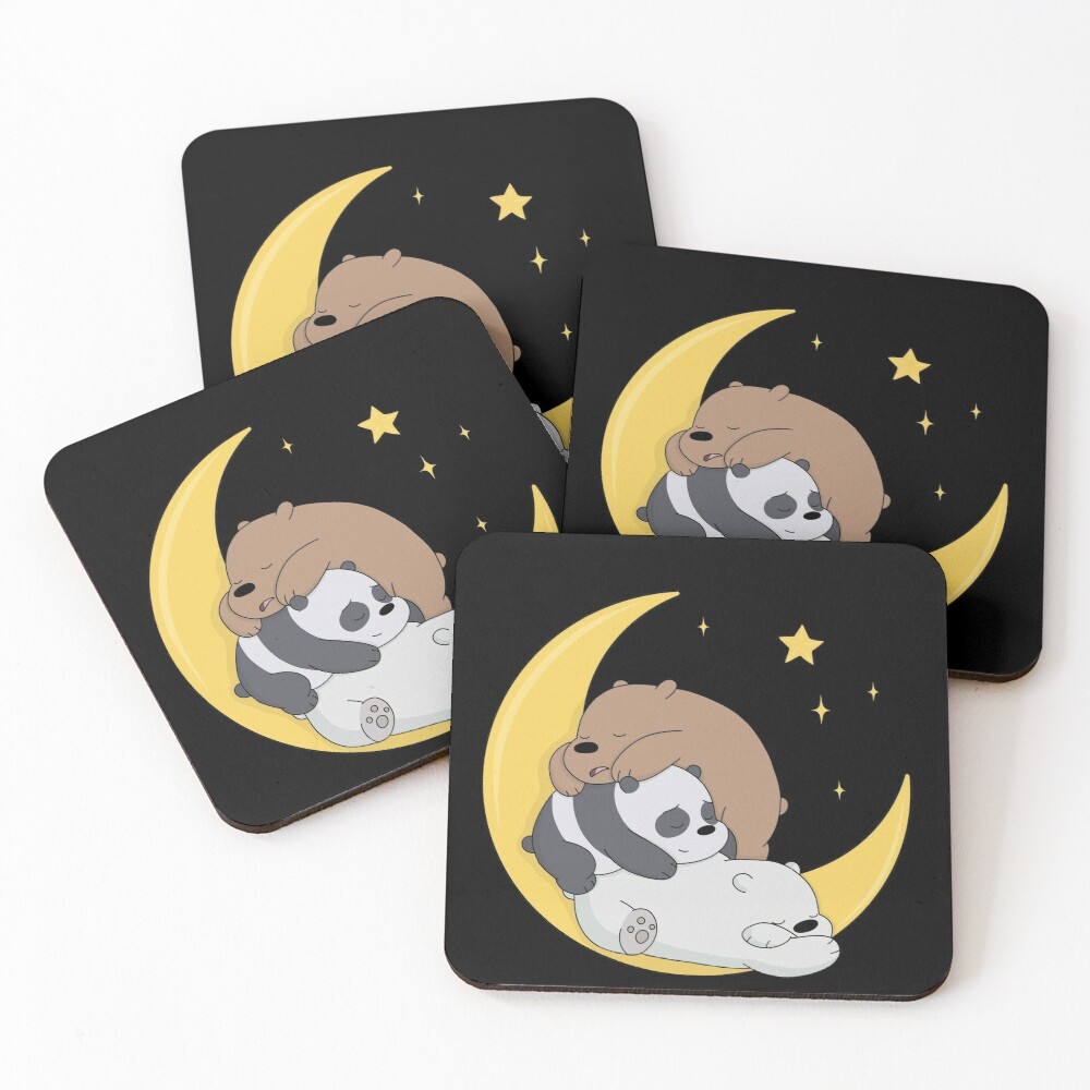 We Bare Bears Coasters (Set of 4)