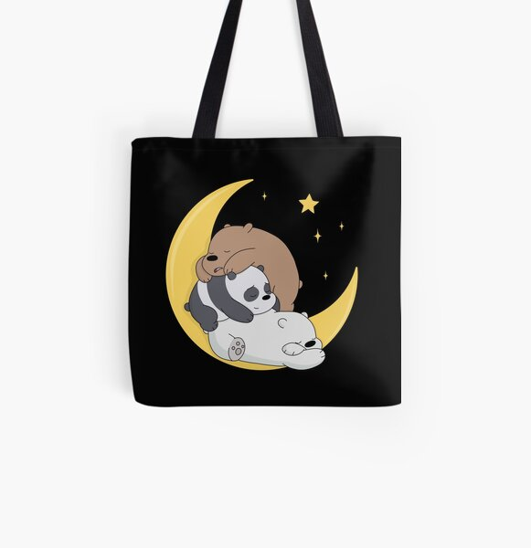 We Bare Bears Tote bag doublé