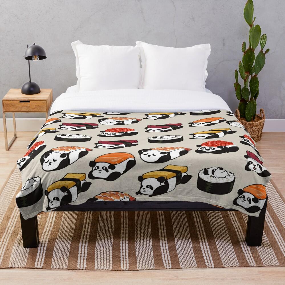 SUSHI PANDA Throw Blanket
