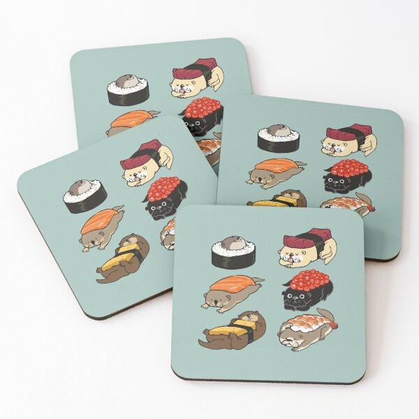 Sushi Otter Coasters (Set of 4)