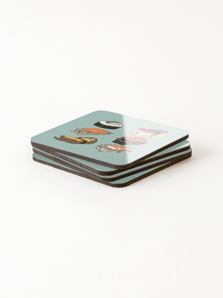 Alternate view of Sushi Otter Coasters (Set of 4)