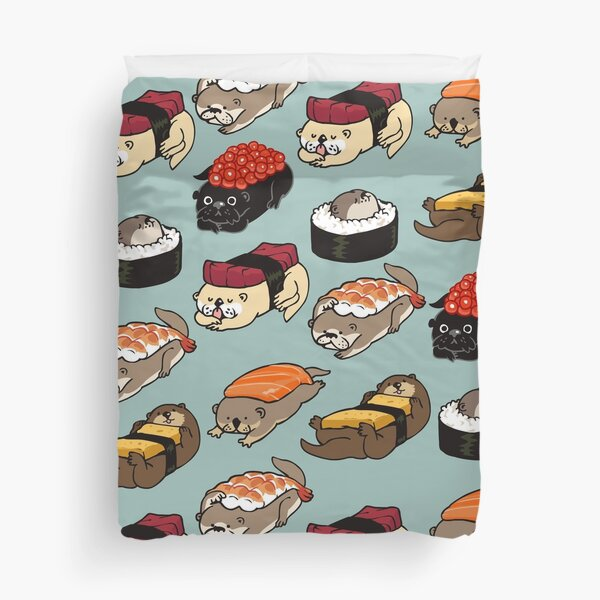 Sushi Otter Duvet Cover