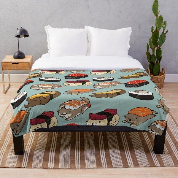 Sushi Otter Throw Blanket