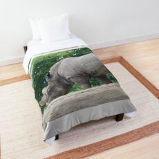 Rhinoceros outdoors Comforter