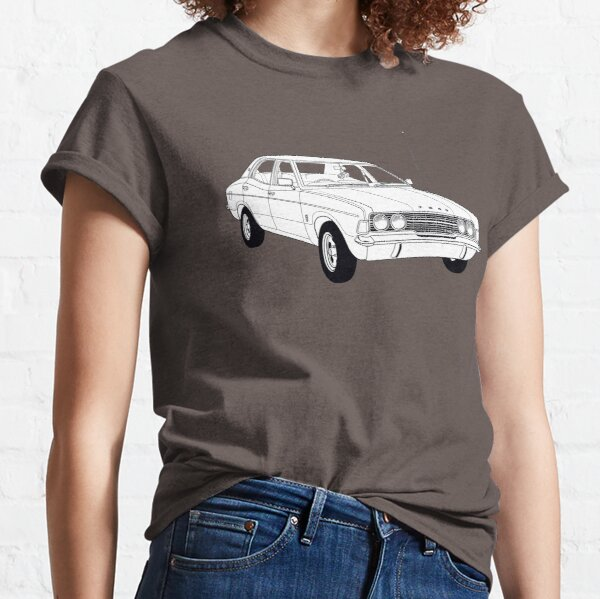 1972 Ford Cortina TC Mark III GXL (Fan Art Vector Drawing) Classic T-Shirt