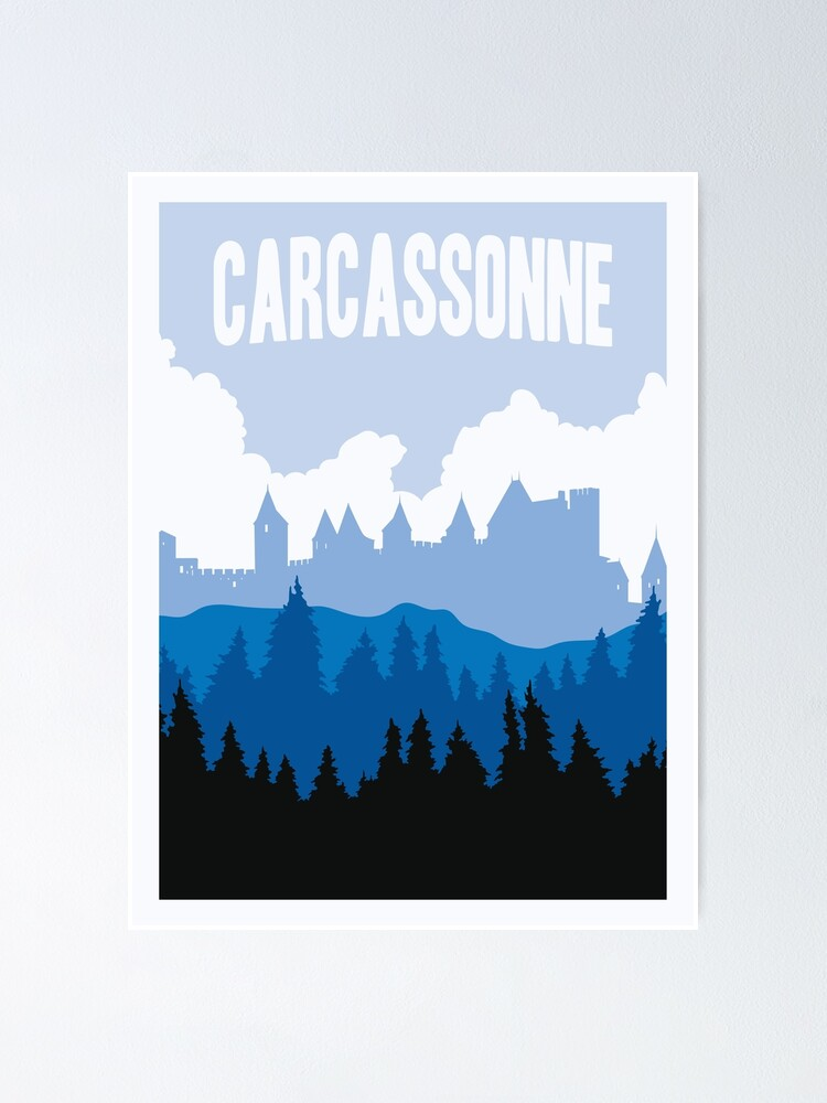 Alternate view of Carcassonne Board Game- Minimalist Travel Poster Style - Gaming Art Poster