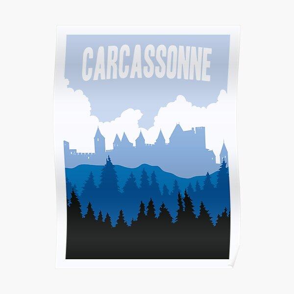 Jeu de société Carcassonne - Style affiche minimaliste - Art du jeu Poster