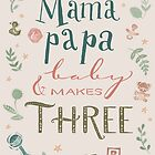 Mama and papa and baby makes three by kimfleming