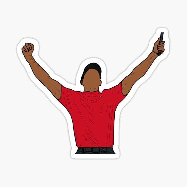 Tiger Woods 2019 Masters Sticker