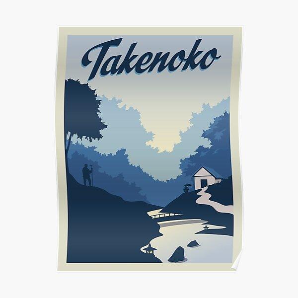 Takenoko Board Game- Minimalist Travel Poster Style - Gaming Art Poster
