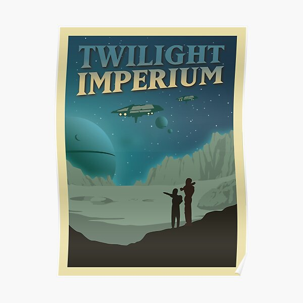 Twilight Imperium Board Game- Minimalist Travel Poster Style - Gaming Art Poster