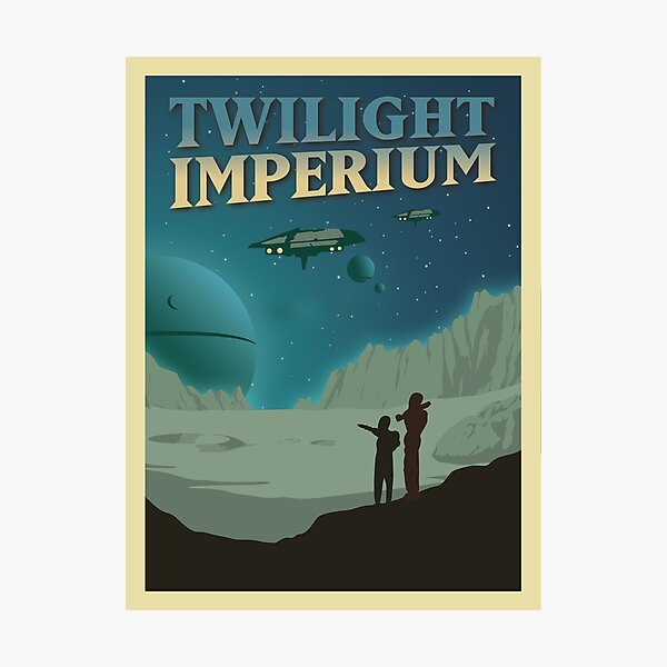 Twilight Imperium Board Game- Minimalist Travel Poster Style - Gaming Art Photographic Print