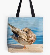 Sleeping Standing Up Tote Bag