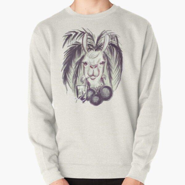 Palm Tree Llama Pullover Sweatshirt