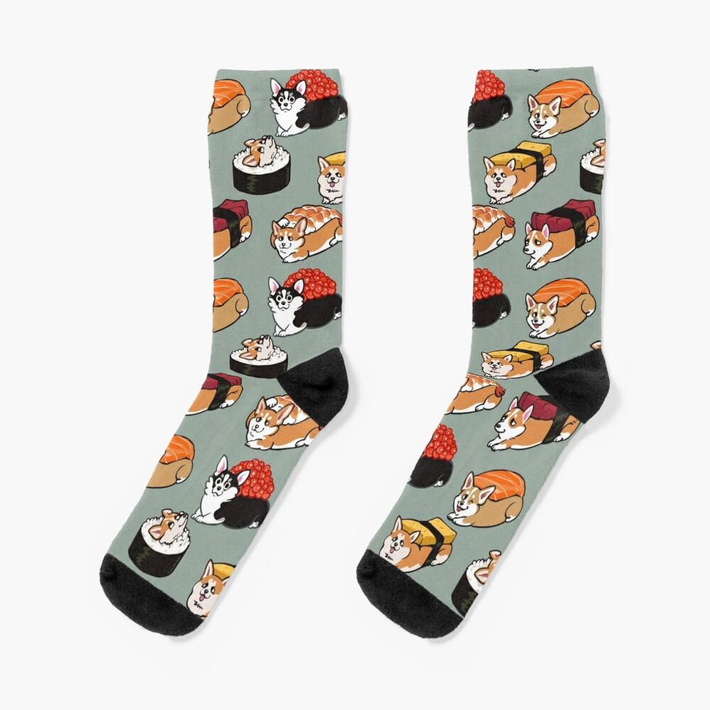 Sushi Corgi Socks