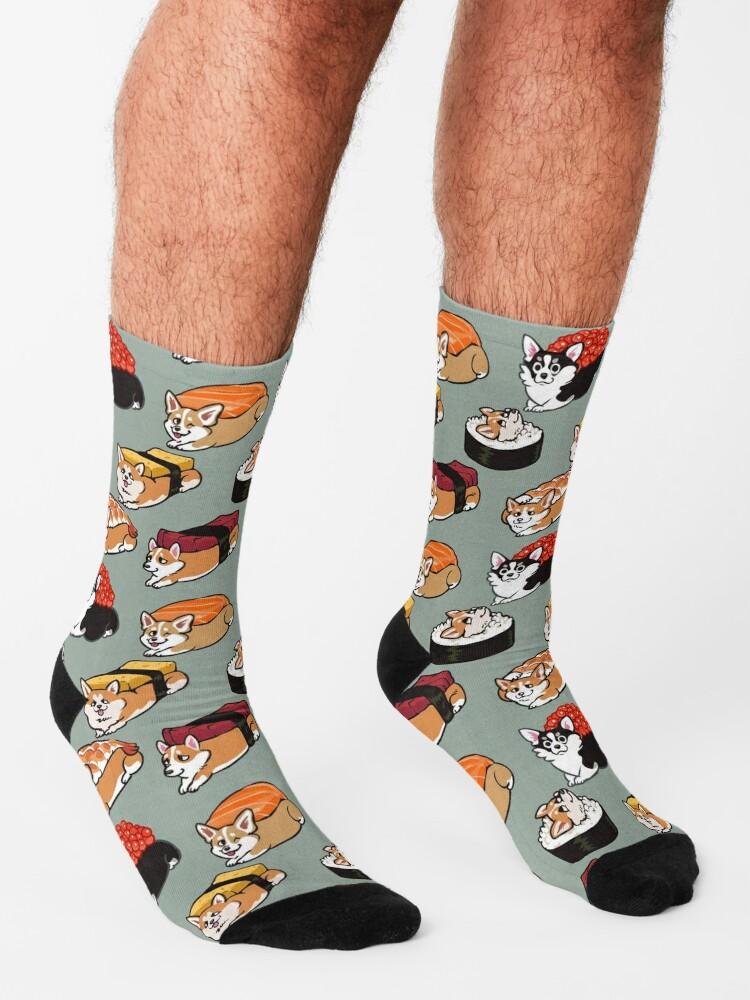 Alternate view of Sushi Corgi Socks