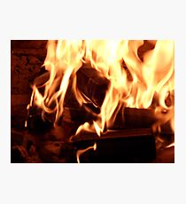 Open Fireplace Photographic Print