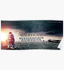 Interstellar - Do not go gentle into that good night Poster