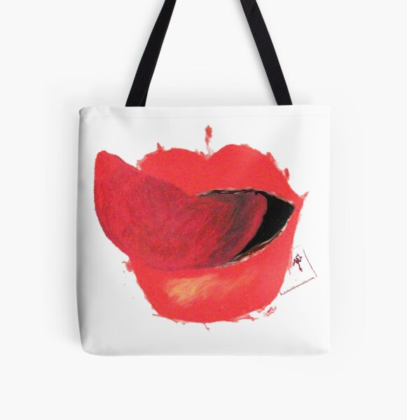 a mouth All Over Print Tote Bag