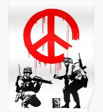 Banksy - Soldiers Painting Peace (CND Soldiers) Poster