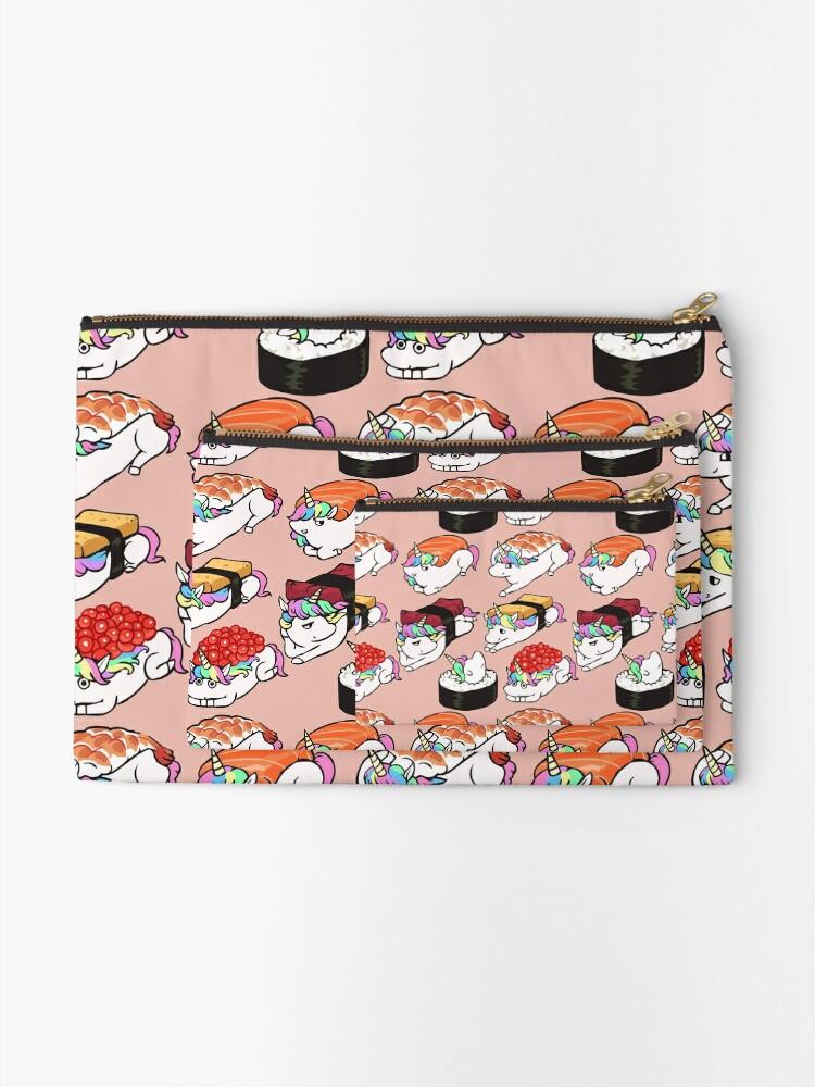 Alternate view of  Sushi Unicorn Zipper Pouch