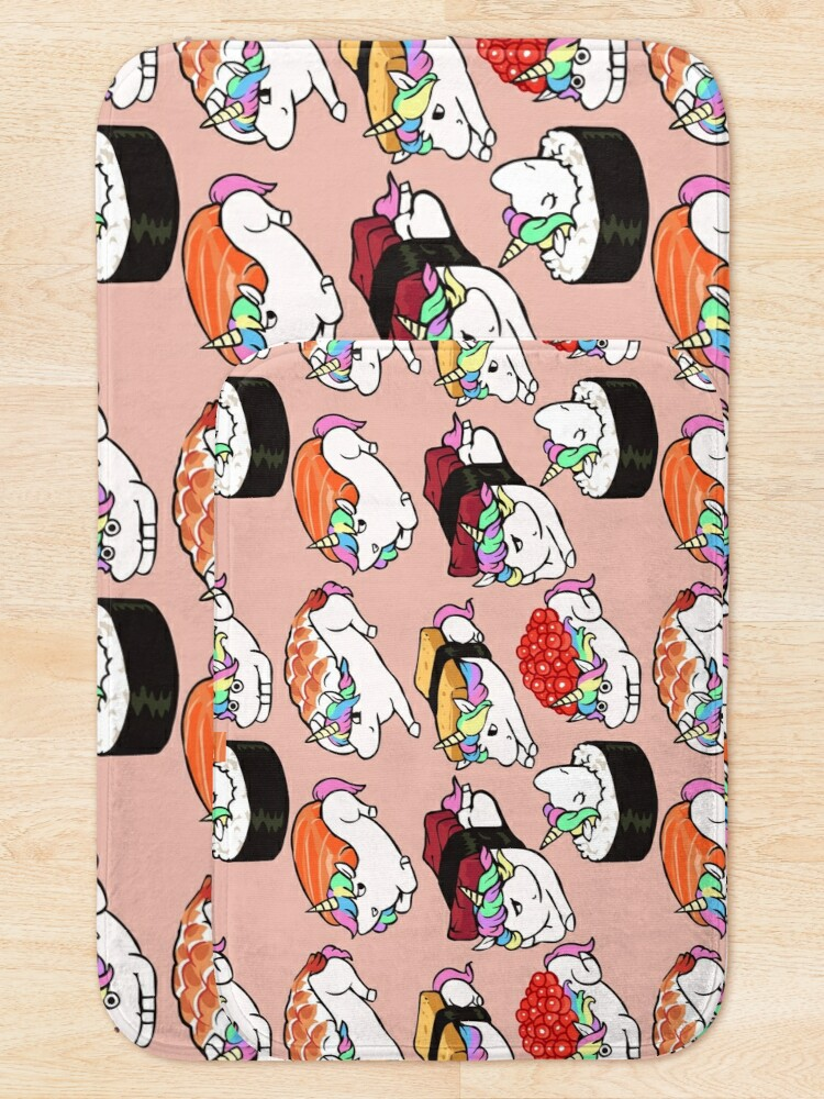 Alternate view of  Sushi Unicorn Bath Mat