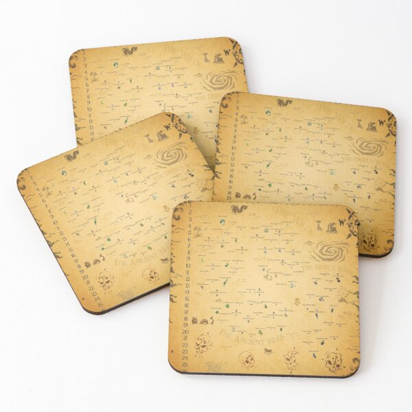 Sea of Thieves Map Coasters (Set of 4)