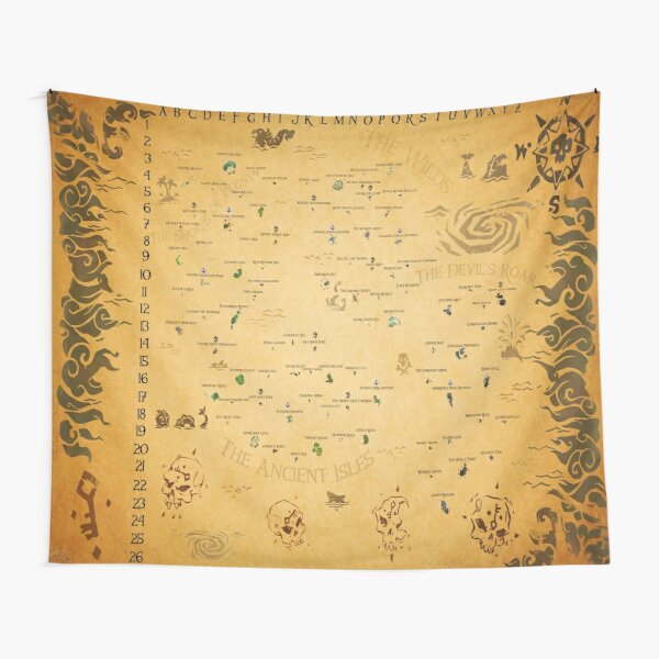 Sea of Thieves Map Tapestry