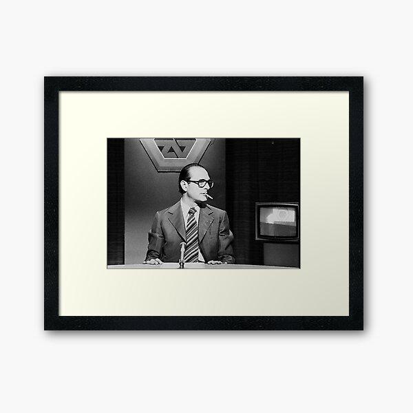 Jacques Chirac Smoking French Swag Framed Art Print