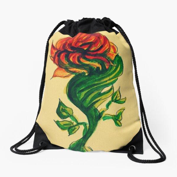 Rose Drawstring Bag