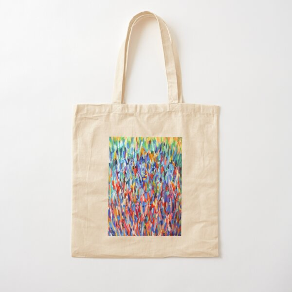 Blue in Bloom. Impressionist organic nature design. From painting by Pamela Parsons Cotton Tote Bag