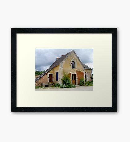 Nivernais canal house Framed Print