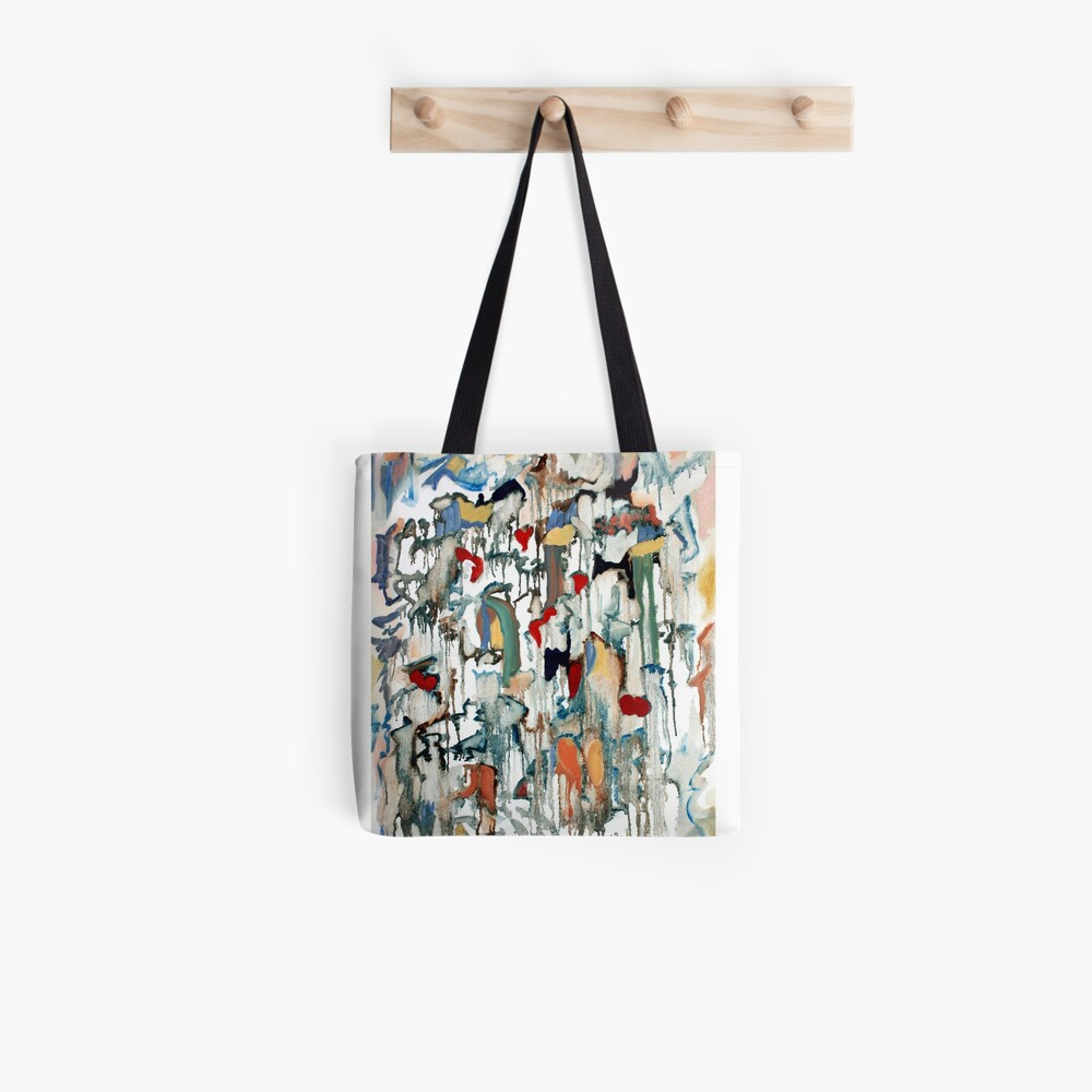 Moondrops, celestial painting with stars, hearts, hopes and dreams. Tote Bag