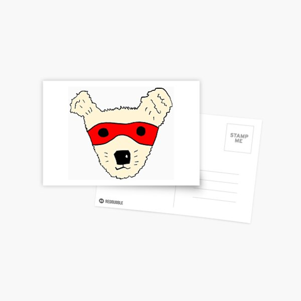 Superhero dog Postcard