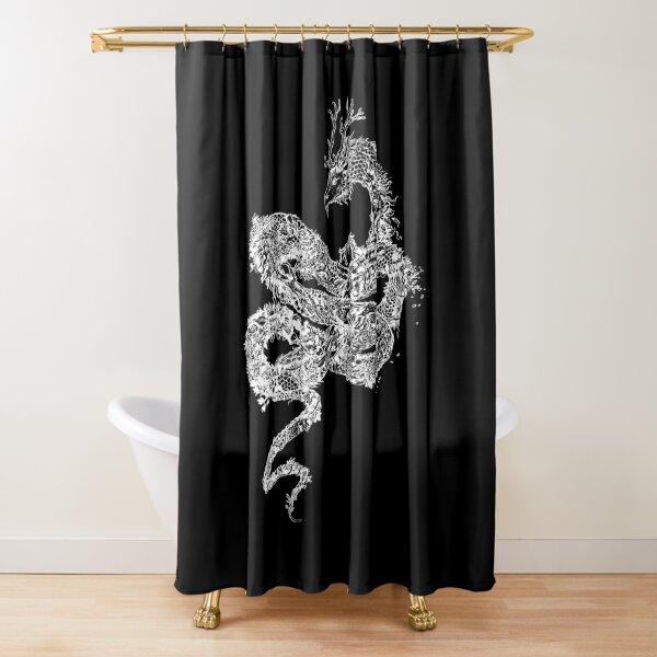 Autumn Dragon - White transparent version Shower Curtain