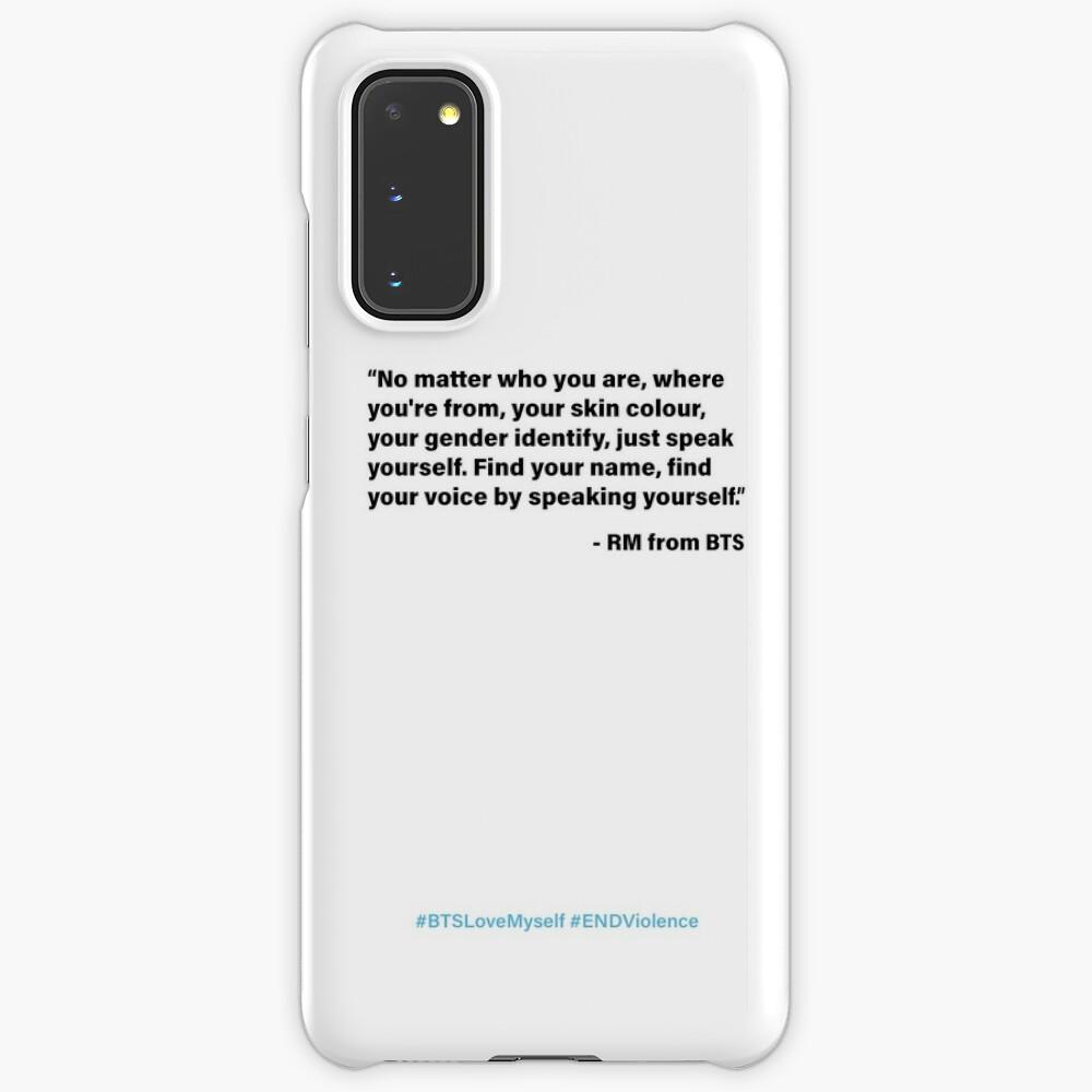 Bts Rm Unicef Speech Case Skin For Samsung Galaxy By Sandravictorelo Redbubble