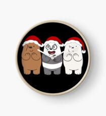We Bare Bears Xmas Clock